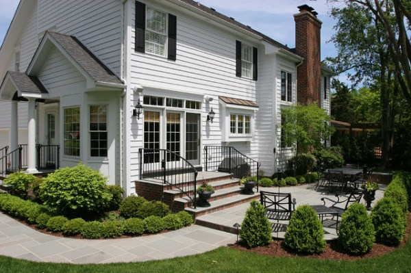 white colonial house - traditional