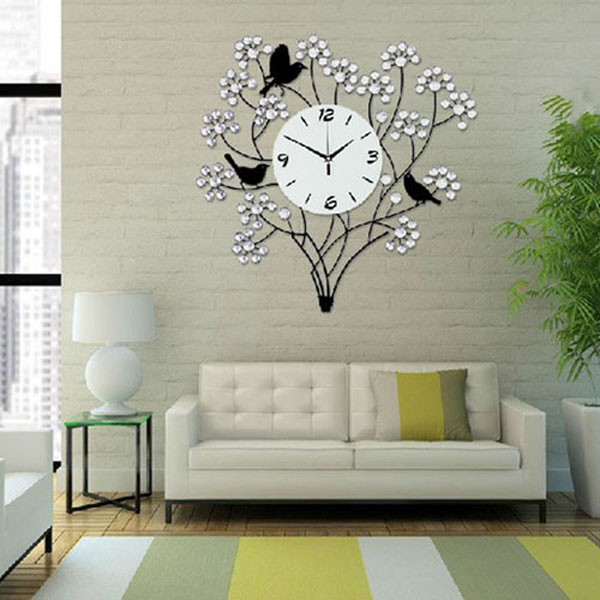 kitchen wall clock paint colors for walls large 60cm crystal decorative needle living room big ...
