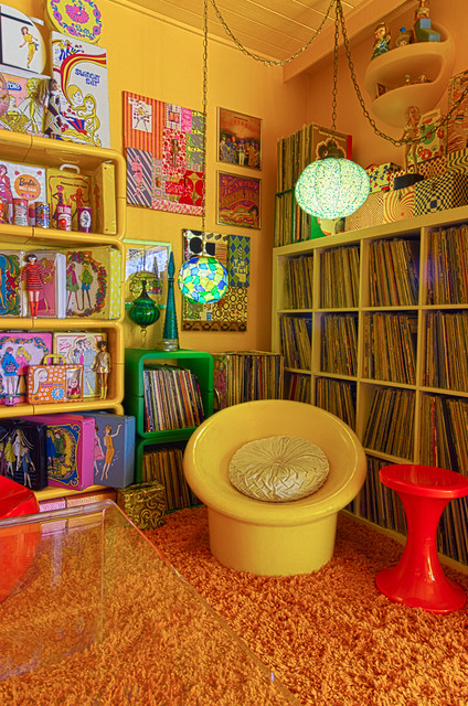LA 70s  Eclectic  Living Room  Los Angeles  by Alex Amend Photography
