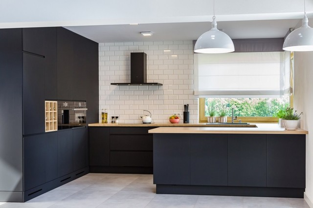 Matte Black Modern Kitchen  Contemporary  Kitchen