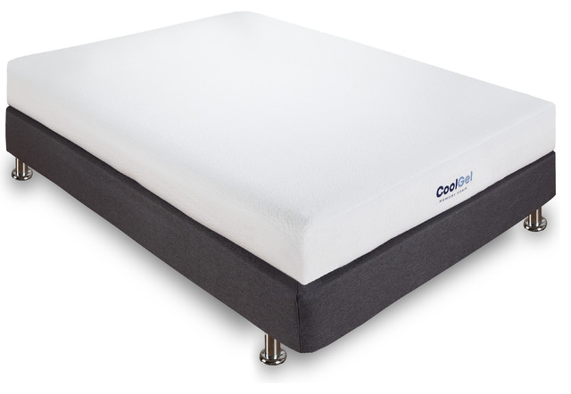 Cool Gel 6 Ventilated Memory Foam Mattress Twin Contemporary Mattresses