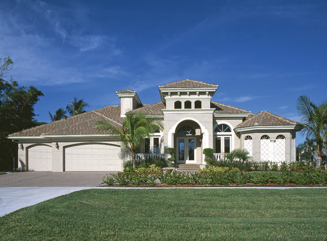 Sater Design Collections 6778 Deauville Home Plan  Mediterranean  Exterior  miami  by