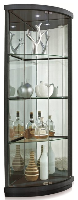 Curio Corner Cabinet  Modern  China Cabinets And Hutches