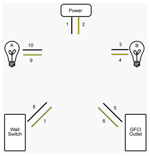 Wiring Lights And Outlets On Same Circuit Diagram
