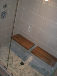 Nice benches - what is the dimensions of this shower ...