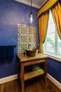 Mediterranean Powder Room