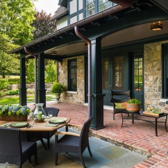 French Country Dining Chairs With Arms Swing Chair Name New House - Wayne, Pa Traditional Porch Philadelphia By Peter Zimmerman Architects