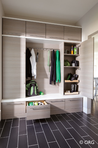 Mudroom  Modern  Entry  Boston  by Closet Classics of
