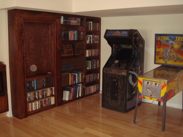 InvisiDoor Hidden Door Bookcase Family Room Milwaukee