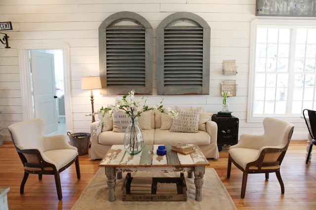 The Farmhouse shabby-chic-style-living-room