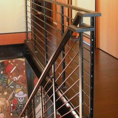 Inexpensive Rugs For Living Room Blue Cushions Stair Rail Detail. - Industrial Staircase Seattle By ...