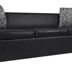 3 Seater Sofa Black Leather Beautiful Sofas Pinterest Vidaxl Artificial White Contemporary By