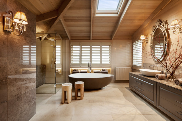 Farm House transitional-bathroom