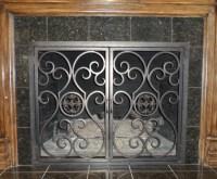 Wrought Iron Fireplace Screens - Dallas - di Iron Passion, LLC