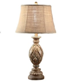 Stratford Rustic Wood Finish Table Lamp 29 Inches Tall ...