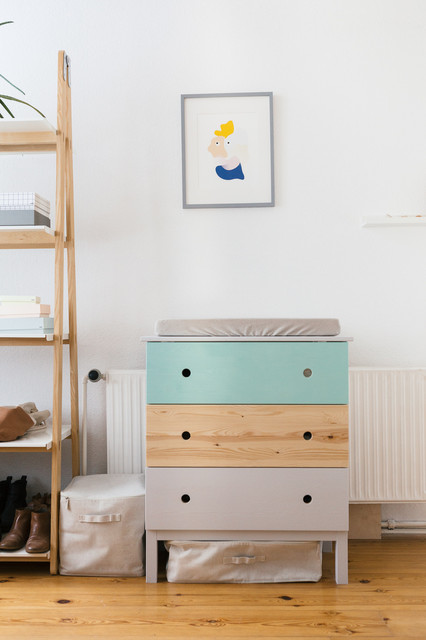 Ikea Hack TarvaKommode wird zum farbenfrohen Wickeltisch
