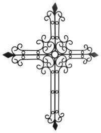 Metal Scroll Cast Iron Look Decorative Wall Cross ...