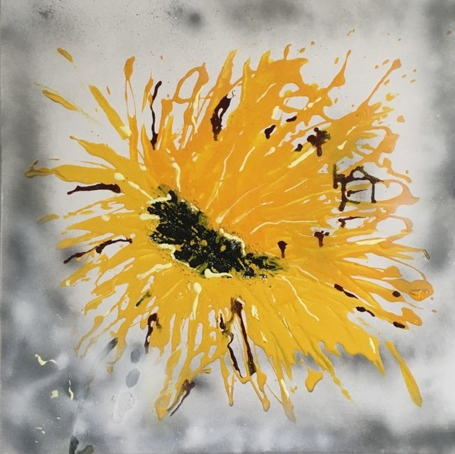 abstract sunflower