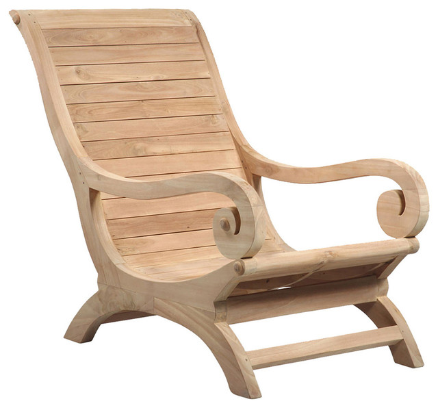 cushions for teak steamer chairs gym massage chair wood lounge - traditional outdoor by design mix furniture