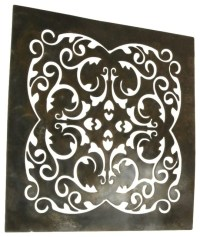 Floral Scroll Metal Wall Art Decor Stained with Copper ...