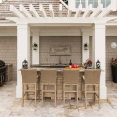 Complete Outdoor Kitchen Kits Valances For Windows Kitchen/bar - Craftsman Patio Minneapolis By ...