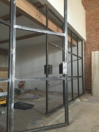 Industrial Steel French Doors Glass Panel