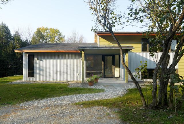 Raised Ranch Retrofit Contemporary Exterior