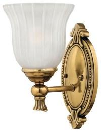 Hinkley Francoise 1-Light Polished Antique Nickel Bathroom ...