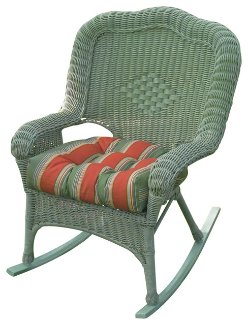 Wicker ResinSteel Patio Rocking Chair  Set of 2