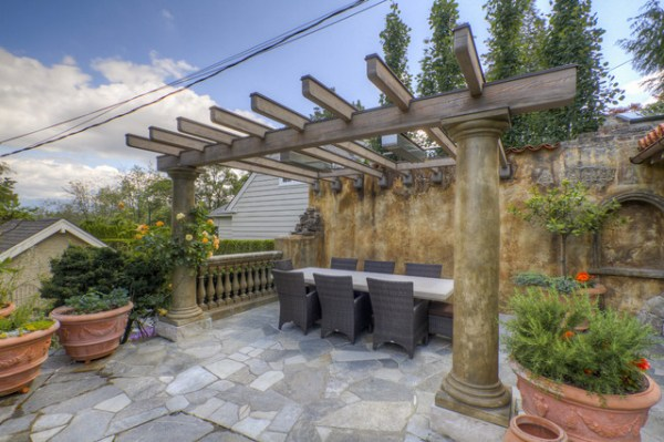 25 Mediterranean Landscaping Outdoor Kitchen Pictures And Ideas On