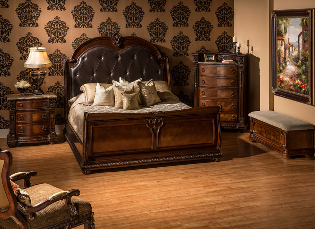 coventry tobacco bedroom set - traditional - bedroom - miami - by