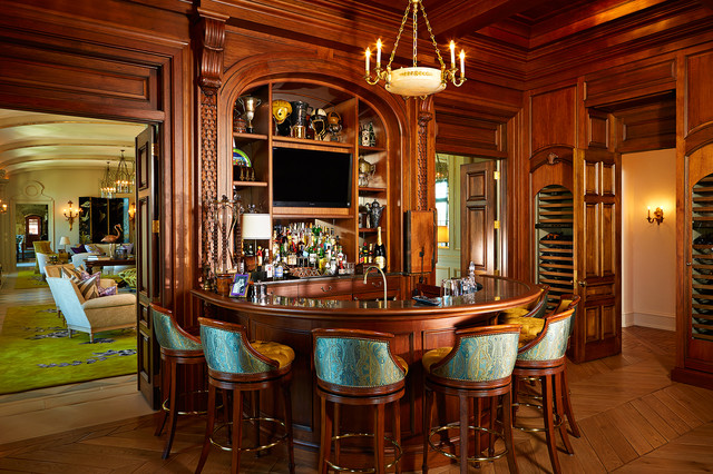 The Country Mansion Traditional Home Bar Tampa By