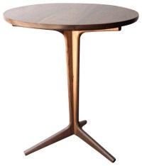 Rian Cafe Table White Oak - Midcentury - Indoor Pub And ...