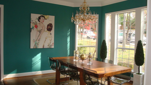 Teal Dining Room  Eclectic  Dining Room  Dallas  by