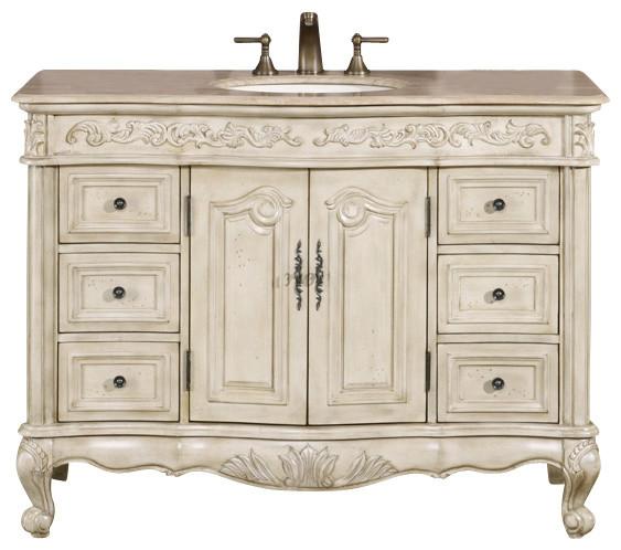 ella 48 in. single sink bathroom vanity cabinet - victorian