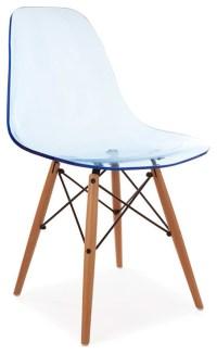 Ghost-Style Molded Acrylic Beech Wood Leg DSW Chair ...
