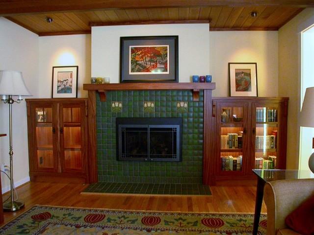 Craftsman Fireplace Mantel  Traditional  Living Room  Seattle  by DAVID GETTS DESIGNER