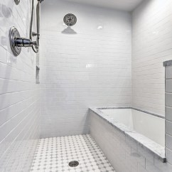 Houzz Living Rooms With Sectionals Duck Egg Blue Room Brown Sofa Wet Tub / Shower Combo - Traditional Bathroom ...