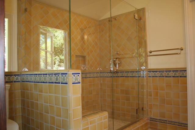 Luxurious Spanish tiled shower