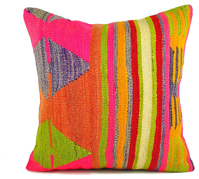 Traditional Turkish Kilim Pillow Cover 20quotx20quot Decorative