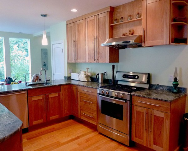 jamaica kitchen cabinets Red birch kitchen in Jamaica Plain - Traditional - Kitchen