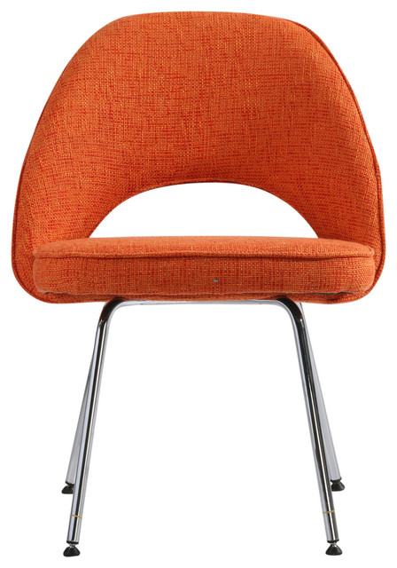orange side chair pressure sore cushions for chairs woolen executive dining by hampton modern