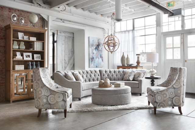 sectional sofa for sale desk table chandelier group - transitional living room ...