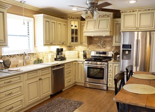 kitchen remodel dallas vintage appliances smith ~ heritage white - traditional ...