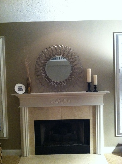 big lots dining chairs white wooden chair hire mirror over fireplace??