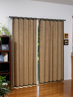 Woven Wood Grommet Panels Tropical Window Treatments Other By