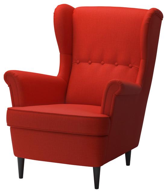 Strandmon Wing Chair Skiftebo Orange  Contemporary