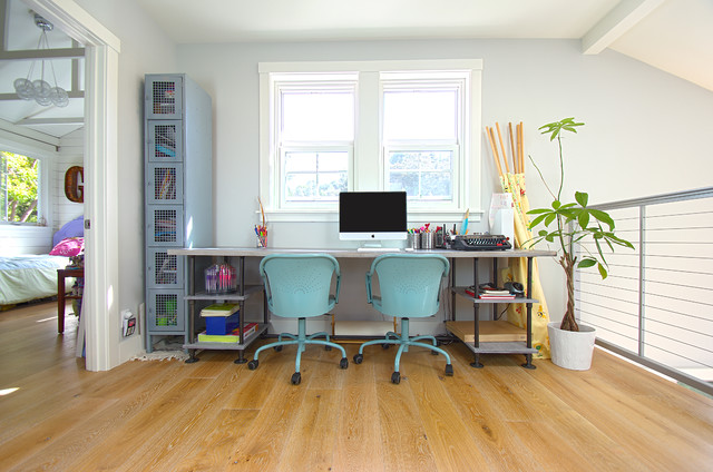 Beach House Style Remodel beach-style-home-office