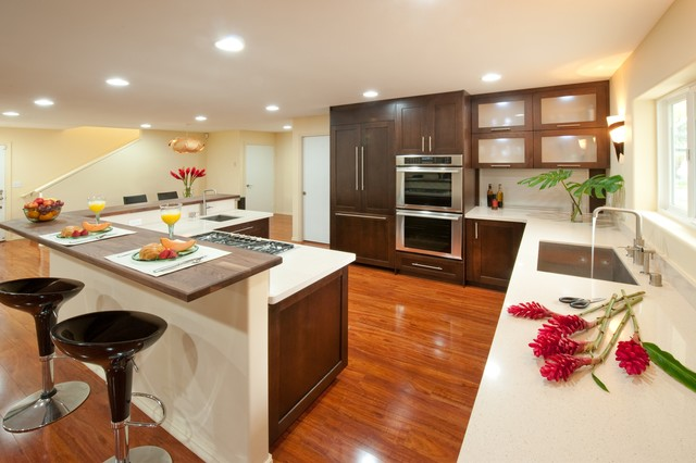 Windward Zen Contemporary Kitchen Hawaii By Archipelago