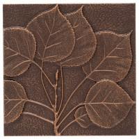 Aspen Leaf Wall Decor, Antique Copper - Traditional ...